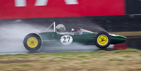 Sonoma Historic Motorsport Festival: Lotus 27 in the Rain