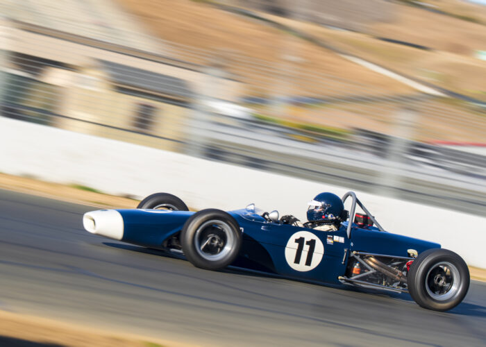 Checkered Past Racing's Chris Locke races the 1969 Merlyn Formula Ford at Sonoma Raceway