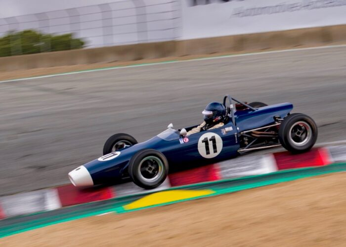Checkered Past Racing's Chris Locke races the 1969 Merlyn Formula Ford at WeatherTech Raceway Laguna Seca